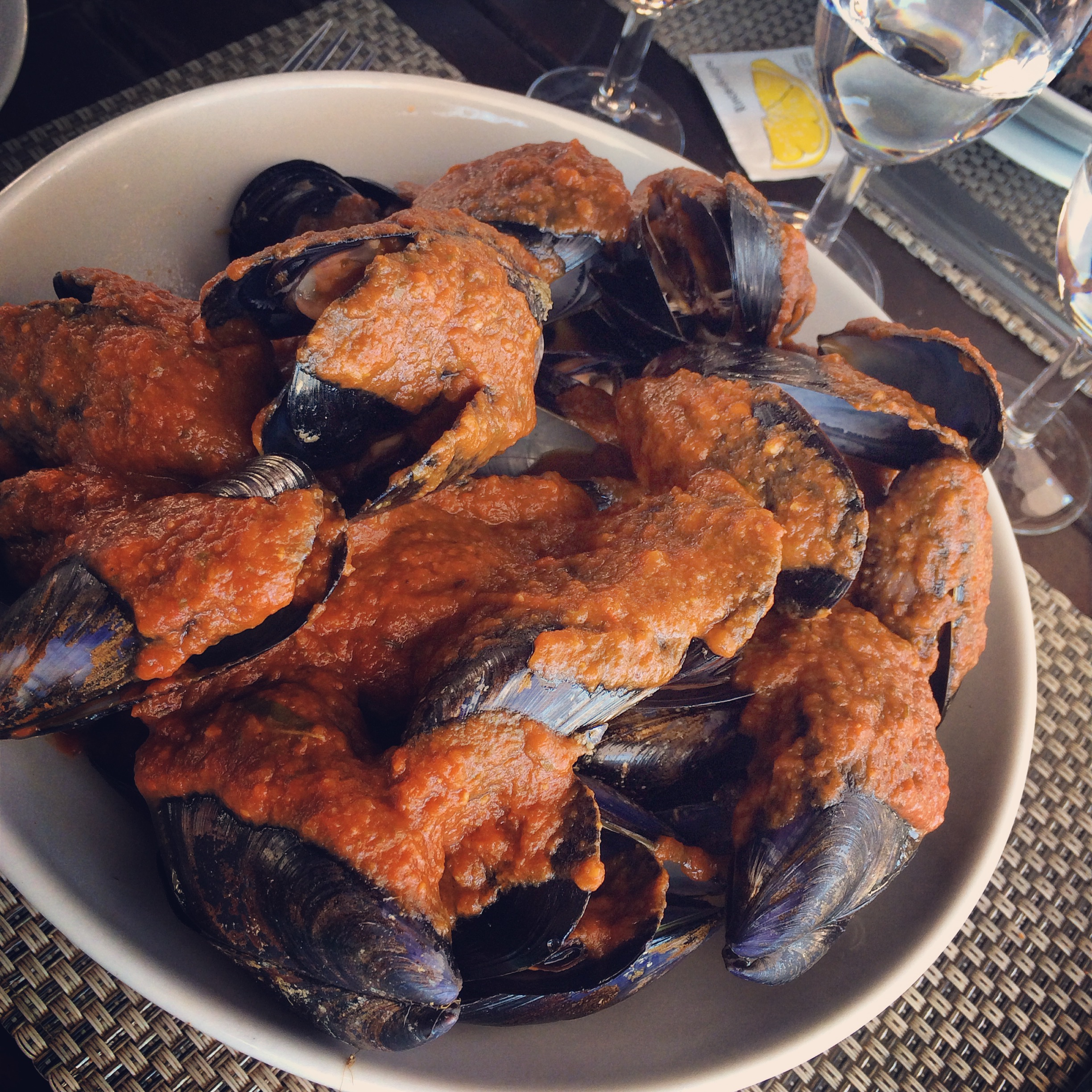 Mussels provence cassis