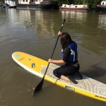 paddleboarding on the thames
