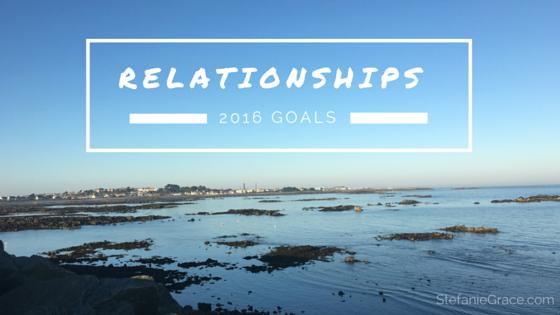 Relationships 2016 Goals