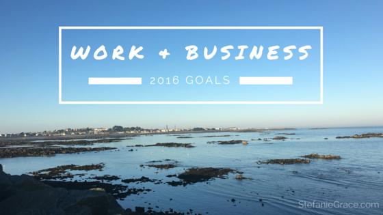 Work & Business 2016 Goals