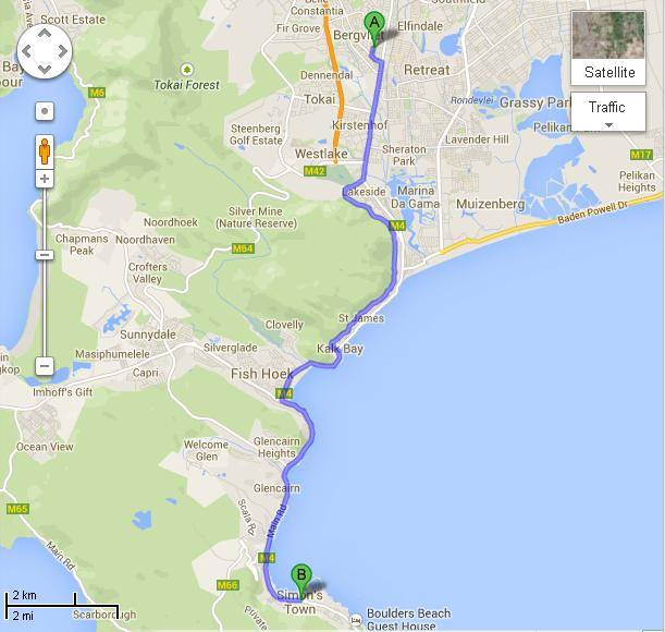 cape-peninsula-half-marathon-map