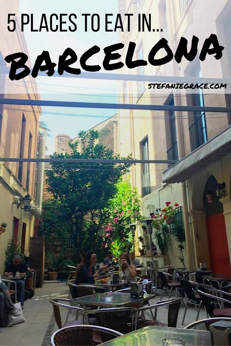 5 PLACES TO EAT IN Barcelona