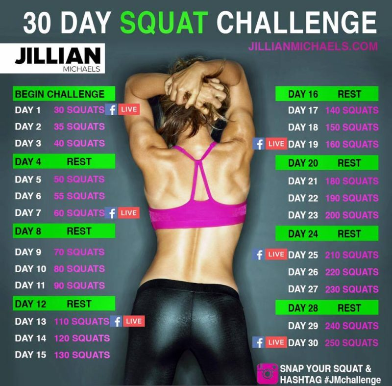 Jillian Michaels 30 Day Squat Challenge