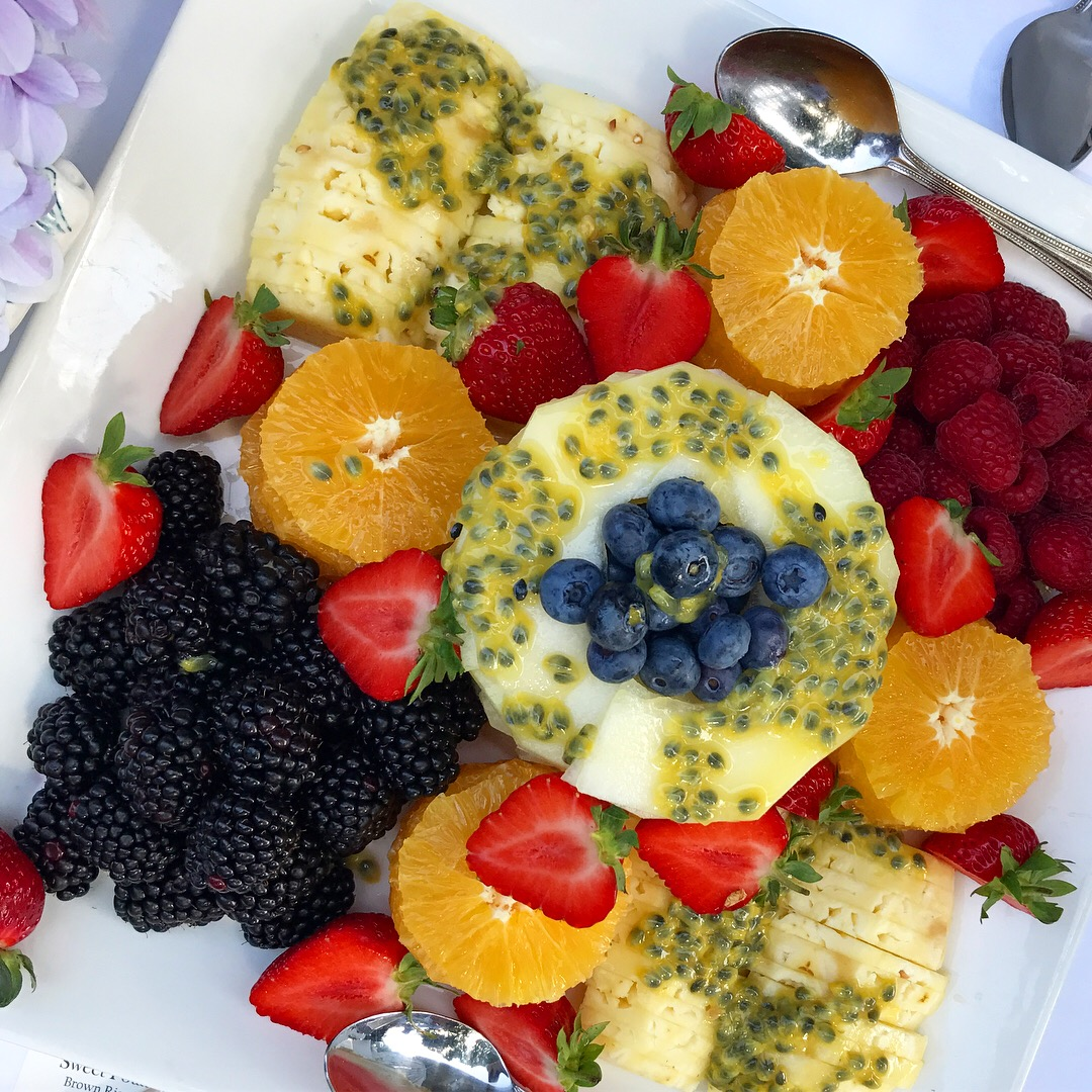 tropical fruit platter fitness retreat